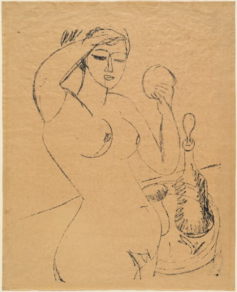 Nude Girl at her Toilette
