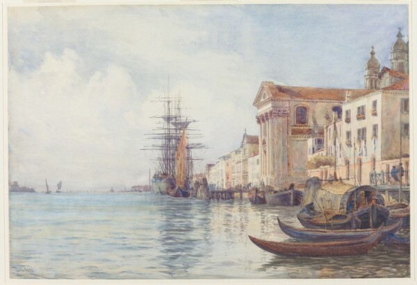 The Giudecca Canal with Shipping near the Chiesa dei Gesuati
