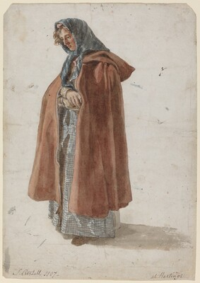 Young Woman in a Kerchief and Cloak at Hastings
