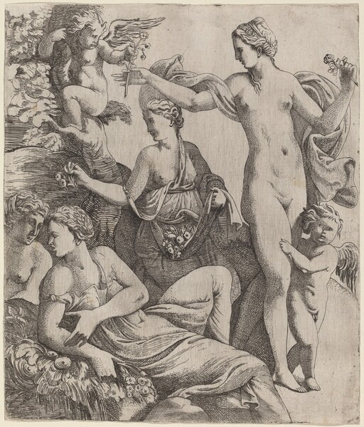 Venus with the Graces and Putti