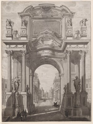 An Architectural Capriccio with a Triumphal Arch