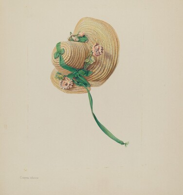 Doll's Straw Bonnet