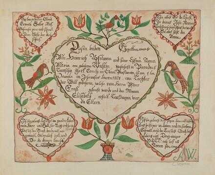 Pa. German Birth Certificate (Waltman #3)