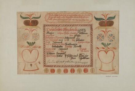 Birth Certificate (taufschein)