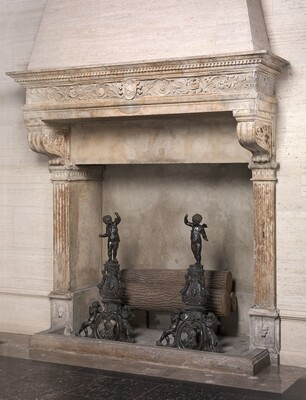Chimneypiece with Shield of Arms of the Barbo of Venice
