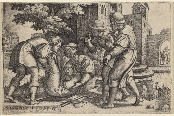 Tobias Burying One of the Children of Israel