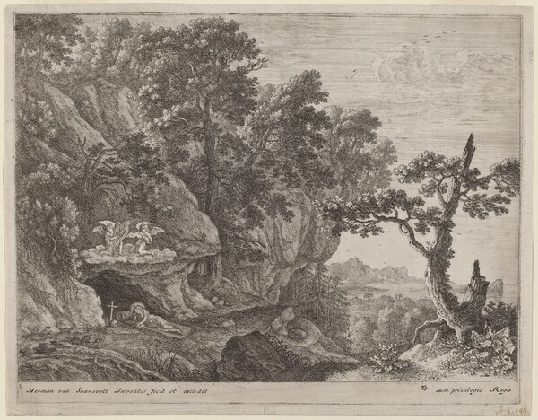 The Repentant Magdalene in a Landscape