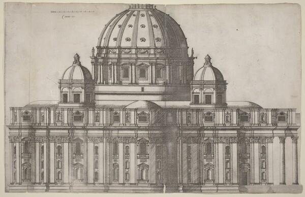 Longitudinal View of Saint Peter's, Rome
