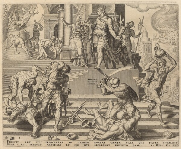 The Destruction of the Temple of Baal and the Slaughter of His Priests