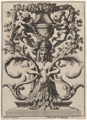 Ornament with a Woman Turning to Foliage