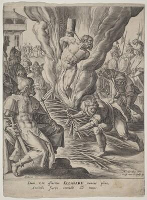 Eleazar Burned by Antiochus