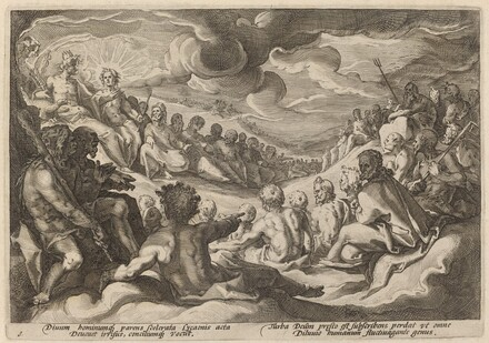 Jupiter Taking Counsel from the Gods about the Destruction of the Universe