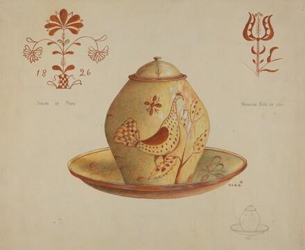 Pa. German Covered Jar