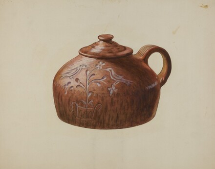 Pa. German Bean Pot with Lid