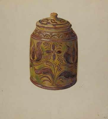 Pa. German Covered Jar