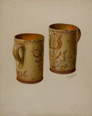 Pa. German Drinking Mug