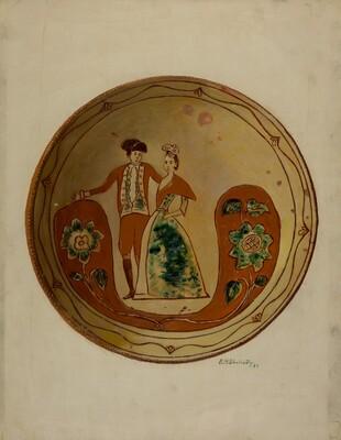 Pa. German Pie Plate