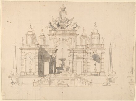 Study for a 'Macchina' of a Fountain Pavilion