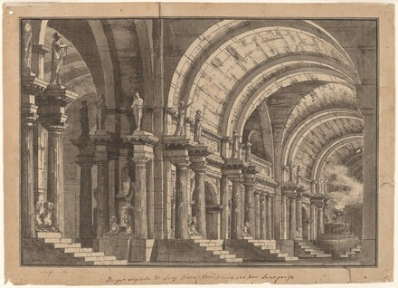 A Monumental Vaulted Hall with a Smoking Altar
