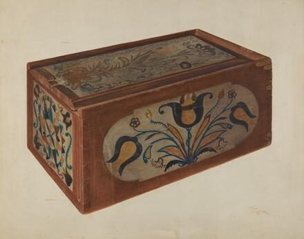 Pennsylvania German Candle Box