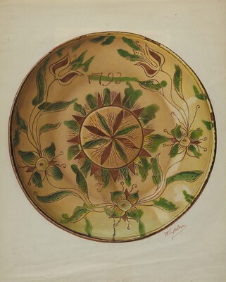 Pa. German Pie Plate