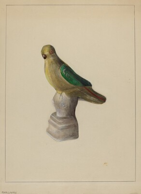Chalkware Parrot