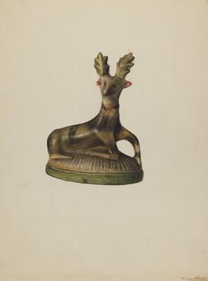 Pa. German Chalkware Deer