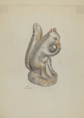 Pa. German Chalkware Squirrel