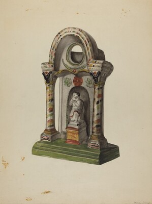 Pa. German Chalkware Shrine