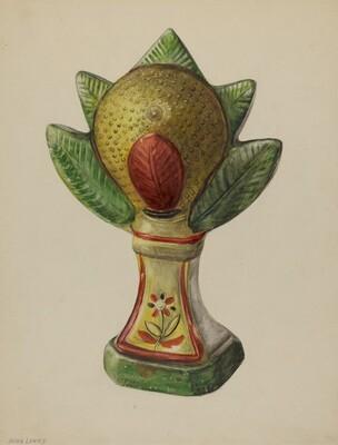 Pa. German Chalkware Mantel Ornament