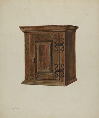 Pa. German Hanging Cupboard