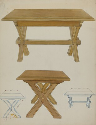 Pa. German Trestle Table