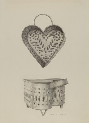 Pa. German Cottage Cheese Strainer
