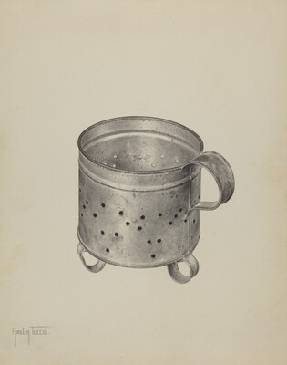 Pa. German Cheese Strainer
