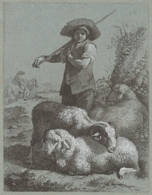 Shepherd Boy with Sheep