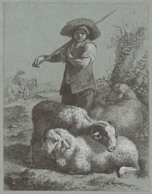 Shepherd Boy with Sheep