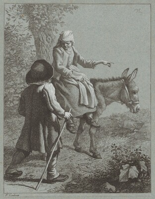 Boy and Girl with a Donkey