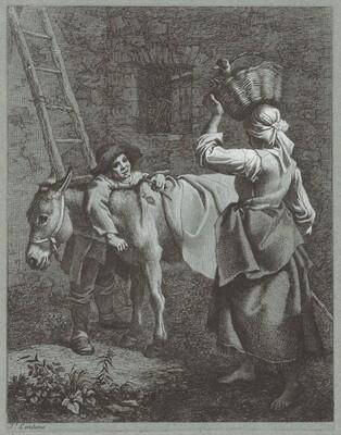 Shepherd Boy Speaking to a Farm Girl
