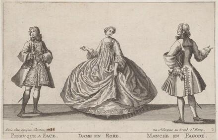 Perruque à Face/Dame en Robe/Manche en Pagode