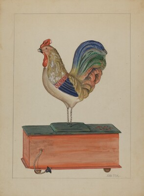 Pa. German Bellows Toy Rooster