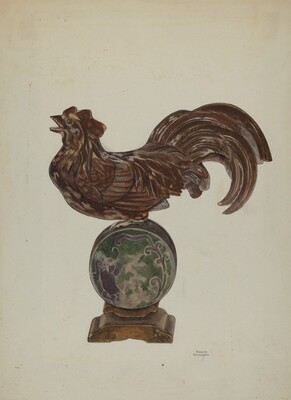 Pa. German Rooster Mantel Ornament