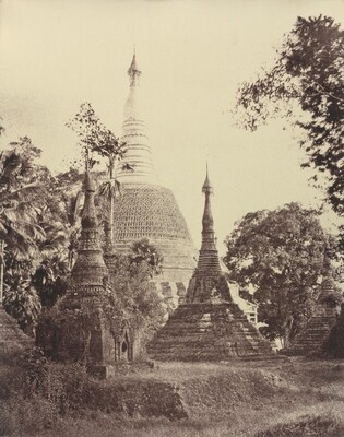 Rangoon: Near View of the Shwe Dagon Pagoda