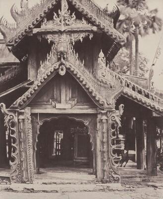Pugahm Myo: Carved Doorway in Courtyard of Shwe Zeegong Pagoda