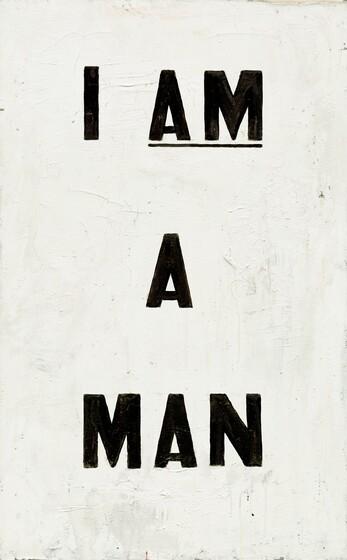 Glenn Ligon, Untitled (I Am a Man), 19881988