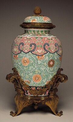 Covered Jar in Gilt-Bronze Mount