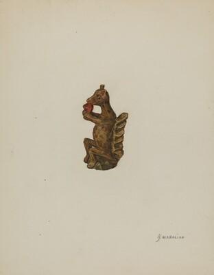 Pa. German Squirrel Figurine