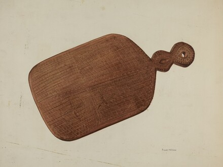 Pa. German Treen Pie Board