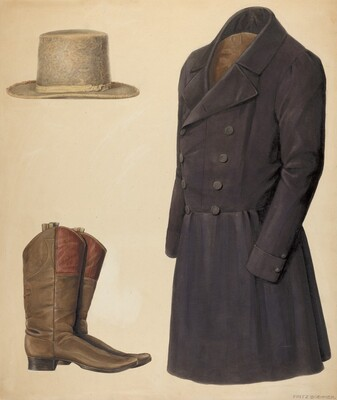 Zoar Man's Hat, Boots and Coat
