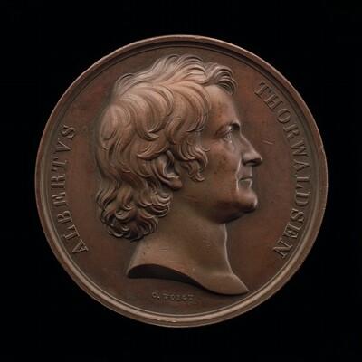 Bertel Thorvaldsen, 1770-1844, Sculptor [obverse]