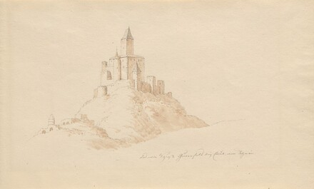 Das alte Schloss Gutenfeis bei Caub am Rhein